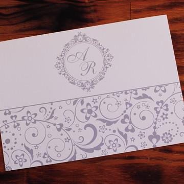 Convite Casamento prata Convite bodas 5 anos promoção