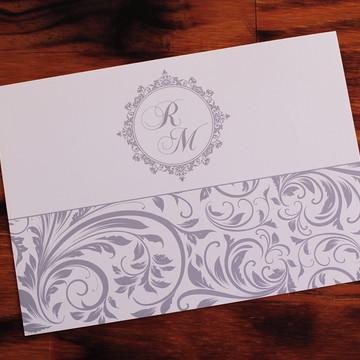 Convite prata Casamento bodas Convite 15 anos barato