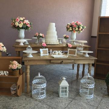 Locação Decoração Casamento Rústico sem painel