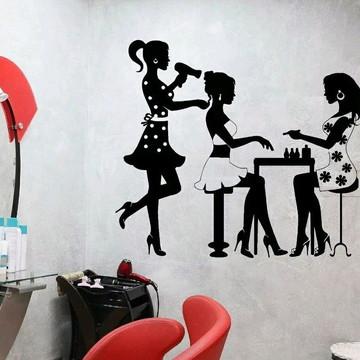 Adesivo Decorativo Salão Manicure Chique