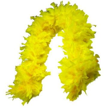 Estola de Pluma Amarelo