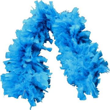 Estola de Pluma Azul Claro