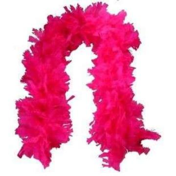 Estola de Pluma Pink