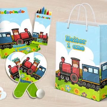 Kit Ping Pong + kit colorir Trenzinho Trem