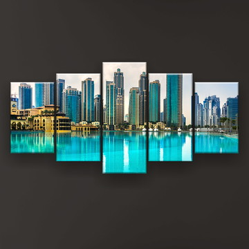 Quadro Decorativo Horizonte Dubai 129x61 Sala
