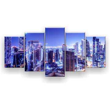 Quadro Decorativo Dubai Noturna 129x61 Sala
