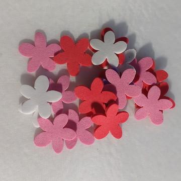 Mini florzinha de eva com 50 unidades