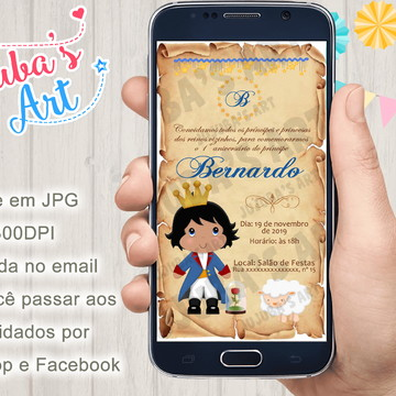 Convite Digital O Pequeno Príncipe Pergaminho para Whatsapp