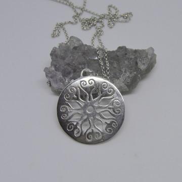 Pingente Mandala de Prata