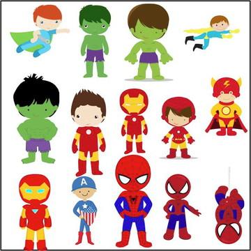 Vetores Herois Kids CDR, EPS, Ai e PNG (90 Vetores CDR)