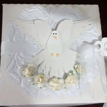 Arquivo de corte Caixa convite batizado