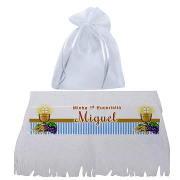 Lembrancinha de toalhinha para primeira eucaristia