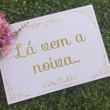 Placa Para Casamento Daminha e Pajem