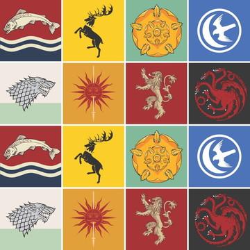 Adesivo de Azulejo Casas Game Of Thrones (10x10 cm)