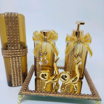 Kit Lavabo Luxo Bronze