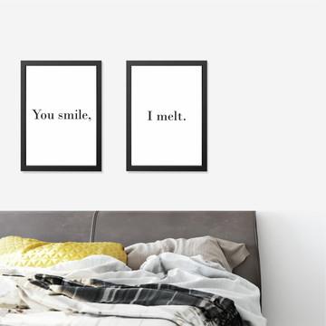 Quadros Quarto Casal - Smile & Melt