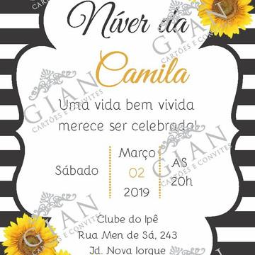 Convite Girassol