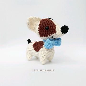 Cãozinho Amigurumi Jack Russell