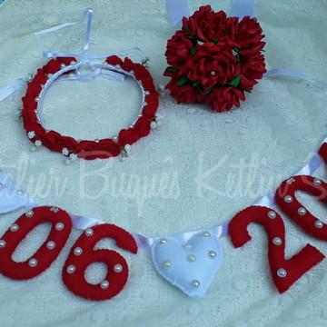 Kit Pré Wedding vermelho