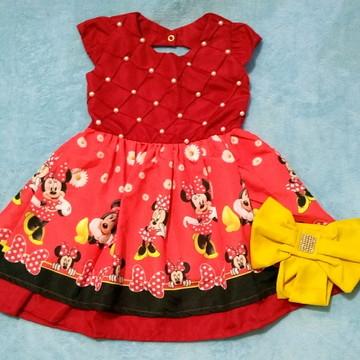 Vestido Luxo Minnie vermelha