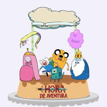 Topo de bolo do Hora da Aventura