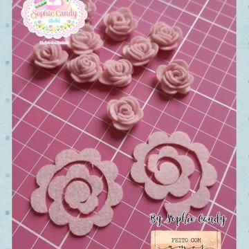 Recortes em feltro - Flor em espiral