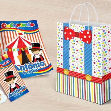Revista Revistinha para pintar circo menino