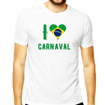 Camiseta Masculina Carnaval Rio Amo Brasil Folia Carnaval 20