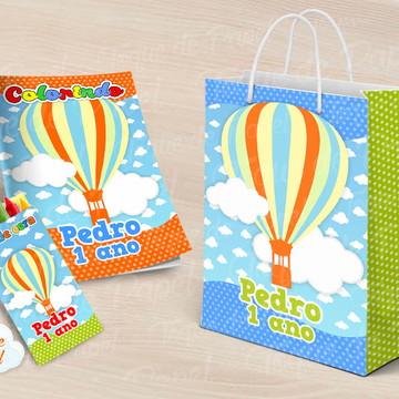 Revista Revistinha para pintar balões coloridos