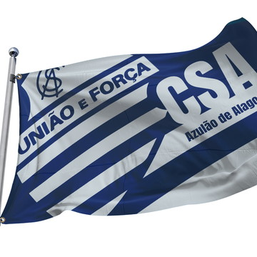 Bandeira do CSA Azulão de Alagoas. 2m x 1,40m