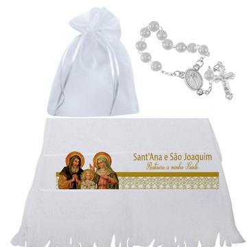 Toalha com terço para igreja - Santos católicos -Festividade