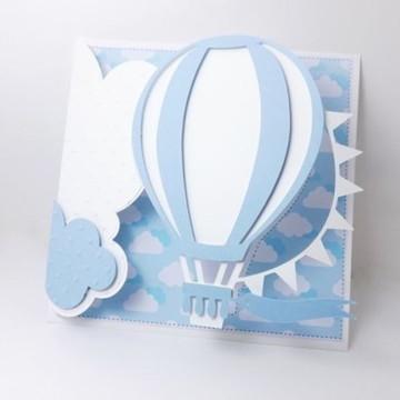 Arquivo De Corte Convite Balão Silhouette