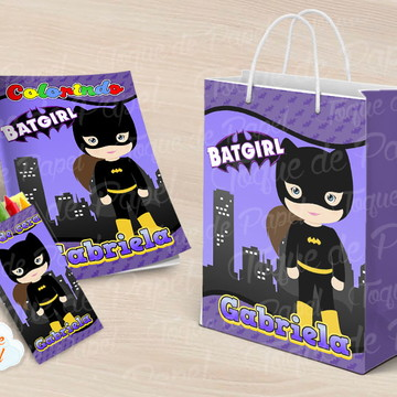 Revista Revistinha para pintar batgirl cute baby