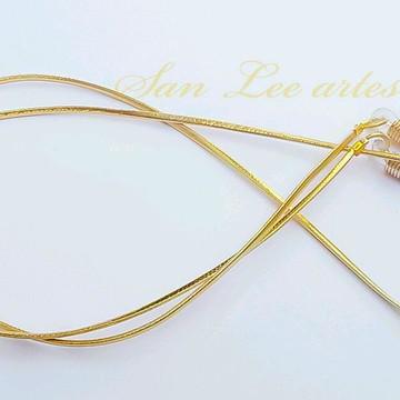 cordão para óculos/segura óculos fio dourado