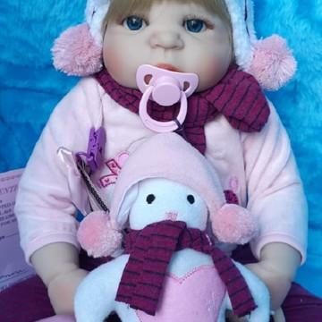 Bebê Reborn Silicone roupa inverno