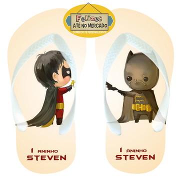 Sandália Personalizada Tema Batman Baby! Lembrancinha Niver