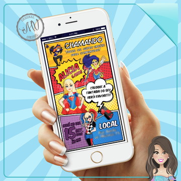 Convite Virtual Digital DC Super Hero Girls