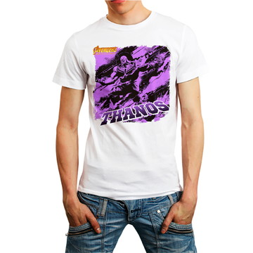 Camiseta Thanos Star Wars Filme Camisa Masculina Branca