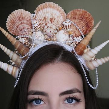 Tiara de conchas Ariel