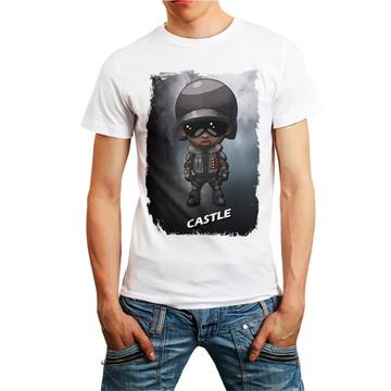 Camiseta Rainbow Six Siege Personagem Castle Games T-Shirt