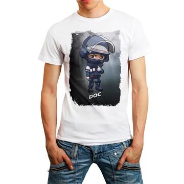 Camiseta Rainbow Six Siege Personagem Doc Games T-Shirt