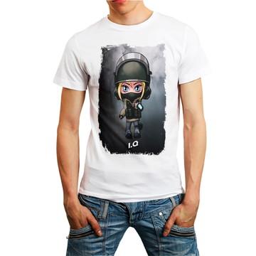 Camiseta Rainbow Six Siege Personagem I.Q Games T-Shirt