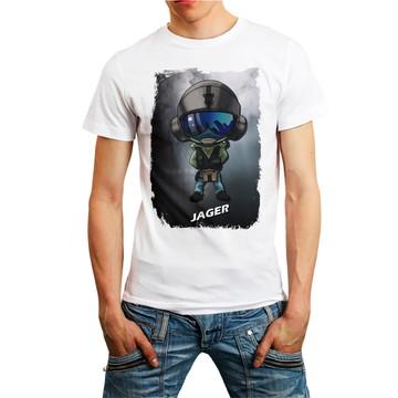 Camiseta Rainbow Six Siege Personagem Jager Games T-Shirt