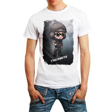 Camiseta Rainbow Six Siege Personagem Thermite Games T-Shirt