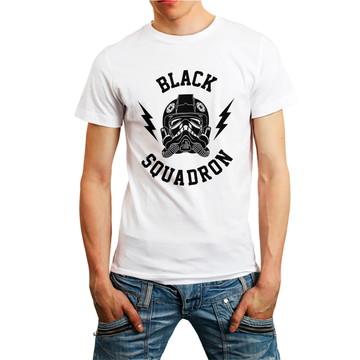 Camiseta Star Wars Esquadrão Filme Camisa Roupa Branca