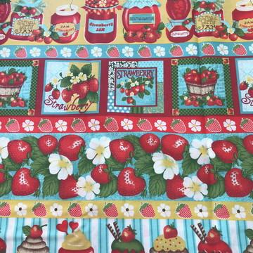 Faixas morangos, geleias e cupcakes - EST 301