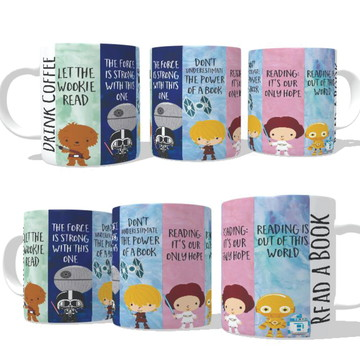Caneca Read a Book, Drink a Coffee - Star Wars