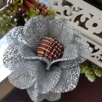 Forminha Flor de laranjeira - tela escócia