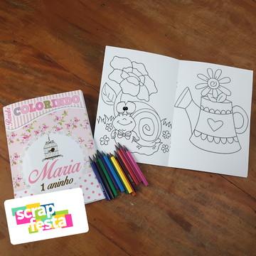 Revista Colorir + Lápis de Cor Festa Jardim Encantado