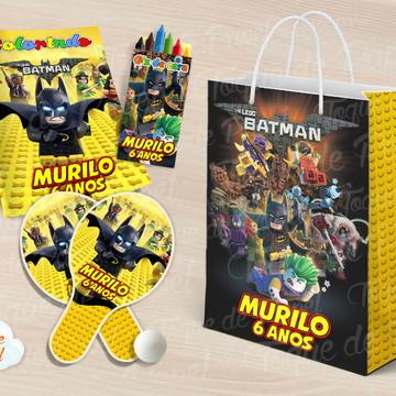 Kit Ping Pong + kit colorir lego batman